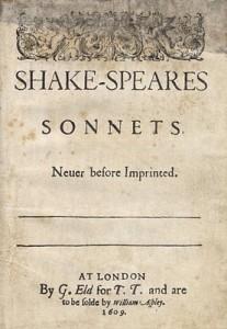 Sonnets—1609 Quarto