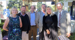 Eddi Jolly, Kevin Gilvary, Alexander Waugh, Wally Hurst, Ros Barber, and Earl Showerman (l. to r.)