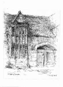Drawing of Chipping Camden, not far from Stratford-on-Avon, by Piet-Hein Zijl