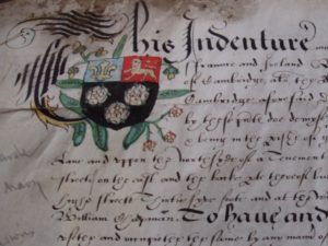 Elizabethan lease of land in Cambridge