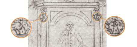 Fig. 3 Detail of Dugdale's drawing, c. 1634