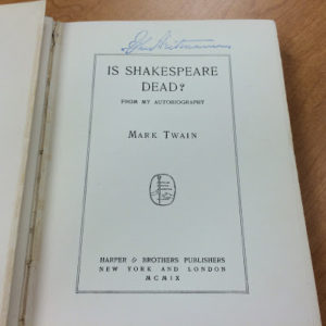 "Title page of ""Is Shakespeare Dead?"""