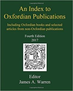 James Warren's An Index to Oxfordian Publications, Fourth Edition