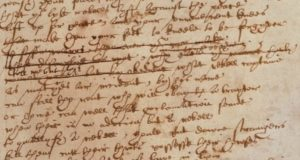 Detail of Sir Thomas More manuscript written by Hand D