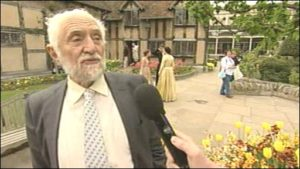 Prof. Stanley Wells of the Shakespeare Birthplace Trust