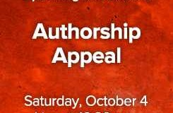 Authorship Mock Trial in Stratford Ontario on October 4  –  free tickets available